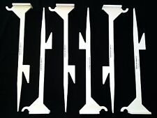 24in. Heavy Duty Knock-over & Hanging Stands for Steel Targets - 6pc. Metal Set