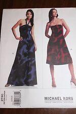 Vogue Pattern Michael Kors american designer #2740 Size 8-10-12, Misses' dress