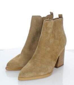 61-44 $190 Women's Sz 6.5 M Marc Fisher LTD Oshay Suede Bootie In Natural