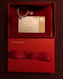 Starbucks 2014 Limited Edition Sterling Silver Gift Card w/ Box & $50 Balance