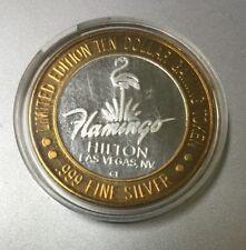 FLAMINGO LAS VEGAS TEN DOLLAR GAMING TOKEN COIN .999 Fine Silver