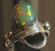 Welo Crystal Opal 2.4 Karat 950er Silberring Größe 19,7 mm