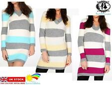 Hip Length Geometric Acrylic Jumpers & Cardigans for Women
