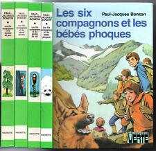 LOT 4 LES SIX COMPAGNONS # BEBE PHOQUE/PIRATE DU RAIL/PARC # BIBLIOTHEQUE VERTE