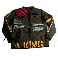 Reason 100% AUTHENTIC Mens Coat  Size Medium 1of1 new green king logo rare