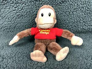 "GUND 8"" CURIOUS GEORGE MONKEY Stuffed Animal Plush Toy With Shirt Brown"