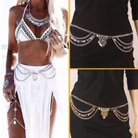 cinturon aleacion bellydance Gypsy Boho Alloy Multilayer Sequins Tassel Belt