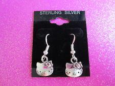 925 STERLING SILVER HELLO KITTY EARRING