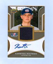 KARSTEN WHITSON 2009 UPPER DECK USA AUTO JERSEY RC #/399