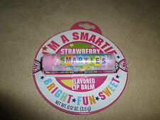 .12 Oz. Strawberry Smarties Flavored Lip Balm By Lotta Luv, BRAND NEW IN PACKAGE