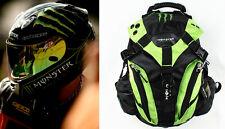 New Green Monster Energy Backpack Off Road Motorcycle Helmet Bag Laptop Rucksack