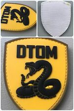 Don't Tread On Me DTOM PVC Tactical Army Snake ISAF ACU Morale 3D Patch YELLOW