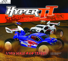 HOBAO HYPER TT 10 ELECTRIC RTR TRUGGY  - BLUE BODY (RC_DEPOT) US SELLER