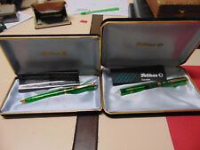 FOUNTAIN PEN PELIKAN M800 + PENNA A SFERA GREEN TRANSPARENT LIMITED EDITION