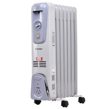 1500W Electric Oil Filled Radiator Space Heater 7-Fin Thermostat Room Radiant