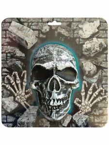 3D SKULL WALL ART GOTHIC HANGING DECORATION PLAQUE PROP PARTY SKELETON HALLOWEEN
