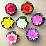 10PC Artificial Lotus-Leaf Flowers Water Lily Floating Pool Plant Decor