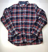 Wallace & Barnes Plaid Cotton Flannel Shirt Size Large