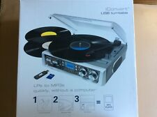Brookstone iConvert USB Turntable Turns LP to USB flash, Memory Card, or MP3