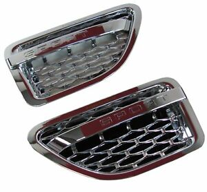 chrome Range Rover sport 2005 AUTOBIOGRAPHY 2010 style wing side vents air grill