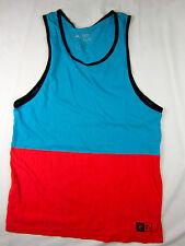 Rip Curl Surf Custom fit soft Tank top men's blue orange size XL