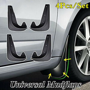 Universal 4Pcs EVA Plastic Car Fender Splash Guards Mud Flaps Mudflaps Mudgurads