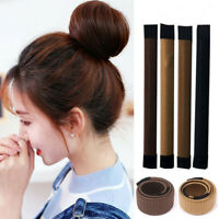 Fashion Women Twist Hair Bun Maker Bands Easy Snap Tool Former DIY Styling Donut
