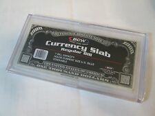 Two BCW Deluxe Currency Protector (Slabs) for Regular Size Bills