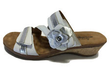 Walking Cradles, Kimmy, White, Silver, Leather, Sandals, Women's Size 8M