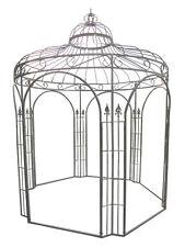 Pavillon  rund aus Metall  250 cm D. 298 cm hoch Laube Rankhilfe