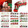 Xmas Wooden Christmas Train Santa Claus Festival Ornament Home Decor Kids Gifts!