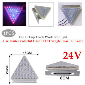 24V Car Pickup Truck Trailer Flash LED Rear Tail Lamp  Brake Work Stoplight ×1