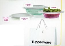 Tupperware FlatOut Bowl and Colander Set 4 and 8 Cups New Colors