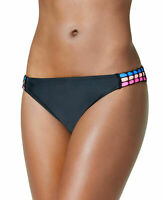 California Waves Crochet-Trim Tabbed Hipster Bottoms Size S