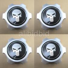 "4pcs Wheel Center Hub Caps Skull For Tacoma Tundra 4Runner 6 lugs  15""  16"" Rims"
