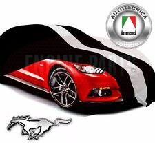 SHOW CAR COVER RACING STRIPES BLACK INDOOR 2015 2016 2017 FORD MUSTANG