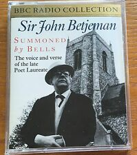 AUDIO BOOK John Betjeman SUMMONED BY BELLS 2 x cass BBC Radio read by the author