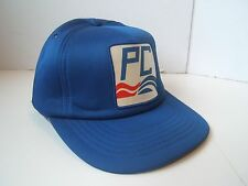Vintage PC Progressive Conservative Party Patch Hat Blue Snapback Baseball Cap