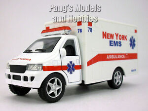 5 inch New York EMS (White) Ambulance Model by Kinsfun