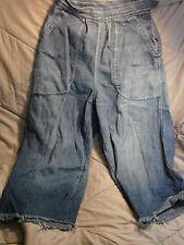 Vintage WWII USN NAVY WAVES Women's Side Button Jeans CUT OFFS Buckle