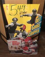 COORS & 3 STOOGES Standee Poster Sports Football BEER ADVERTISING Film