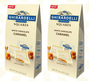 2 Ghirardelli White Chocolate Caramel Squares LIMITED EDITION Bags 6 OZ NEW