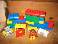 DUPLO LEGO HOUSE OPEN DOOR MAN PLAYFIGURE SIT STAND ASSORT CONSTRUCT BRICKS ROOF