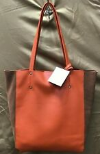 Inzi Orange and Brown Magnetic Closure Purse + 2 Small Matching Bags