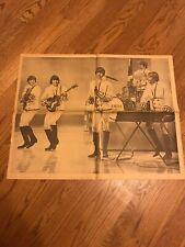 Paul Revere And The Raiders 1960's newspaper Chicago American Poster 29.5x23.5