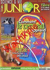 Science et vie junior n°86 du 11/1996 Saut à la perche Alfred Nobel Corbeaux