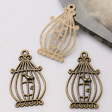 12pcs antiqued bronze color crafted  bird cage  design  charms  EF3399