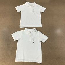 Lot of 2 The Children's Place Boys Toddler Size 4T White Uniform Pique Polo Nwt
