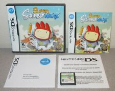 SUPER SCRIBBLENAUTS Nintendo DS w/Manual Handheld Portable Casual Puzzle Game