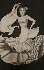 Tri-Chem Liquid Embroidery Large 18x24 Picture to Paint Spanish Dancer Flamenco 000005D2
